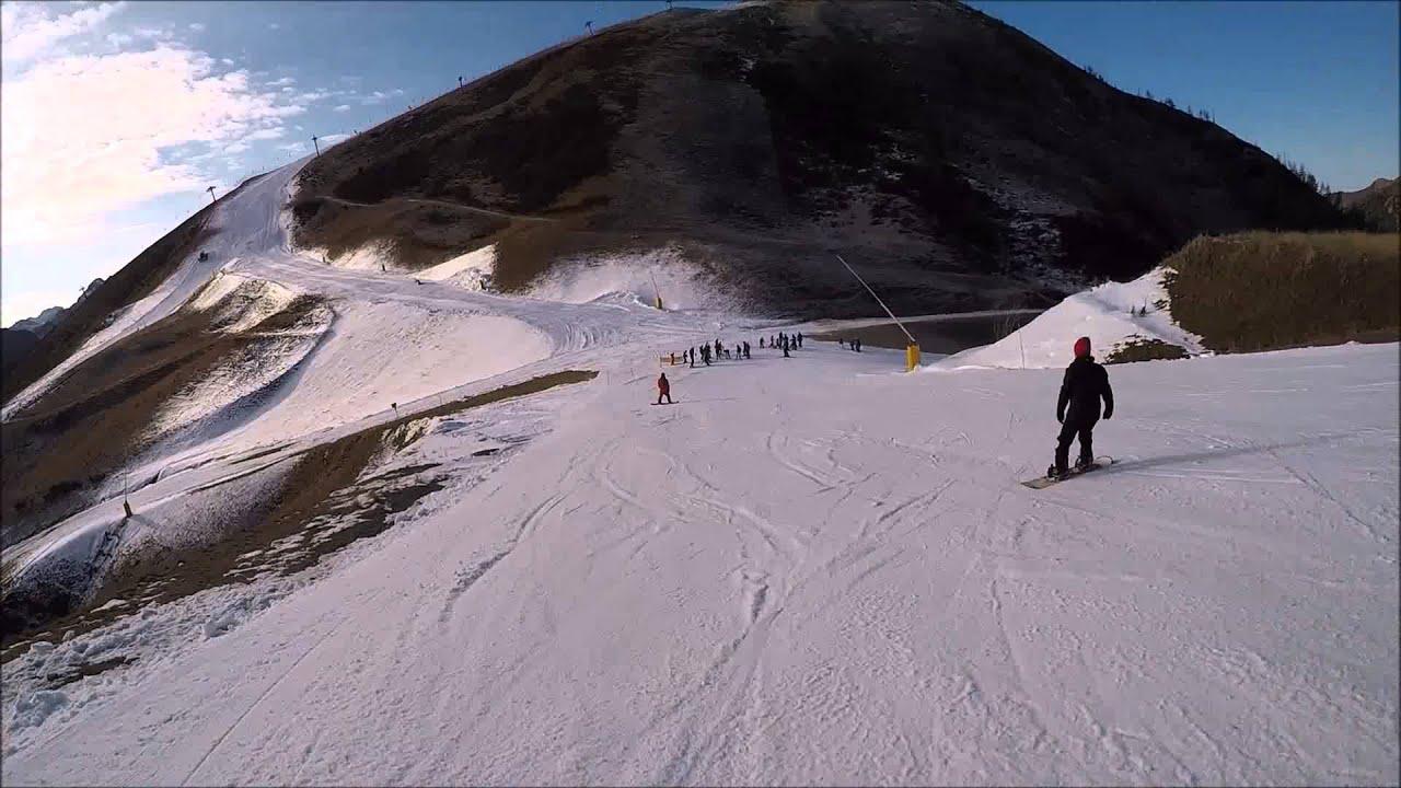 Foppolo: pista canalino con neve artificiale 100%