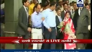 Geeta gets emotional as she steps on Indian soi...