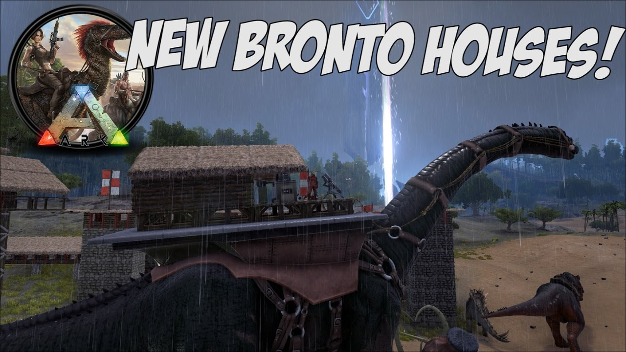 EPIC NEW BRONTO PLATFORM SADDLES - MOVING HOUSES in Ark Survival ...