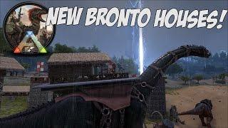 EPIC NEW BRONTO PLATFORM SADDLES - MOVING HOUSES in Ark Survival Evolved