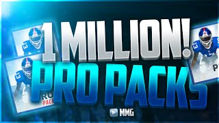AMAZING 1 MILLION PRO PACK OPENING! Madden Mobile 16