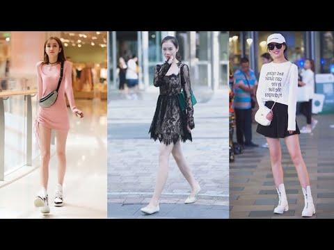 Tik Tok China #34 Pretty Girls Mejores Fashion Walking Style Street Dress Outfit.  抖音時尚網紅街拍合輯。