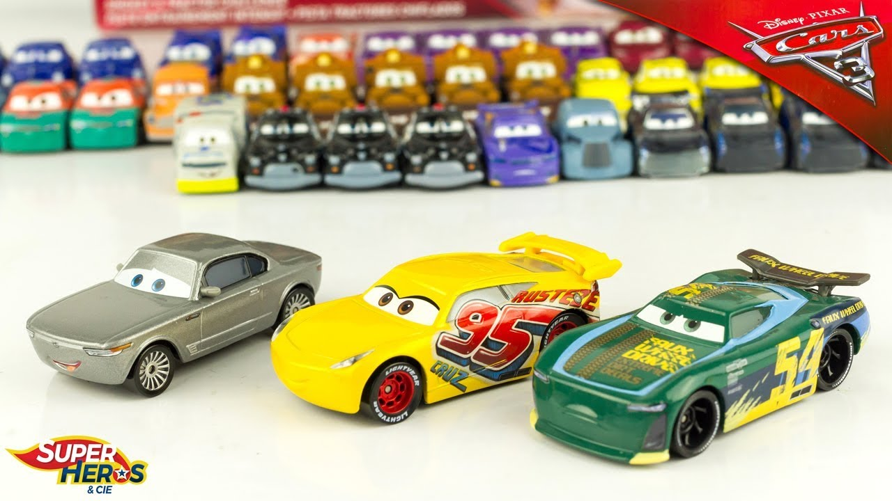 Cars 3 Jackson Storm Jouet Disney Cars 3 Cruz Ramirez Rust Eze Sterling Herb Curbler Diecast Cars Toy Review Juguetes
