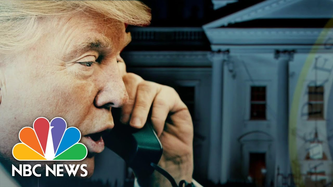 Download In Recorded Call, Trump Pressures Georgia Secretary Of State To Overturn Results   NBC Nightly News