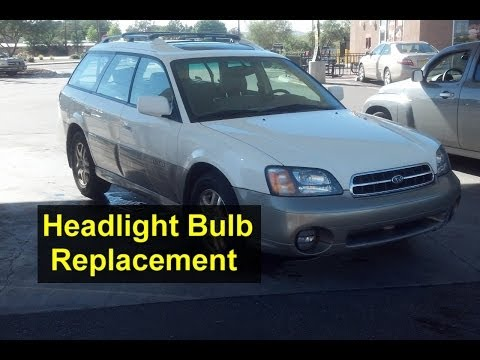 Headlight bulb replacement, high beam and low beam, Subaru Outback – Auto Repair Series
