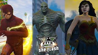 GTA 5 PC The Flash and Wonder Woman VS Doomsday ! Epic Battle (Justice League Team Up)