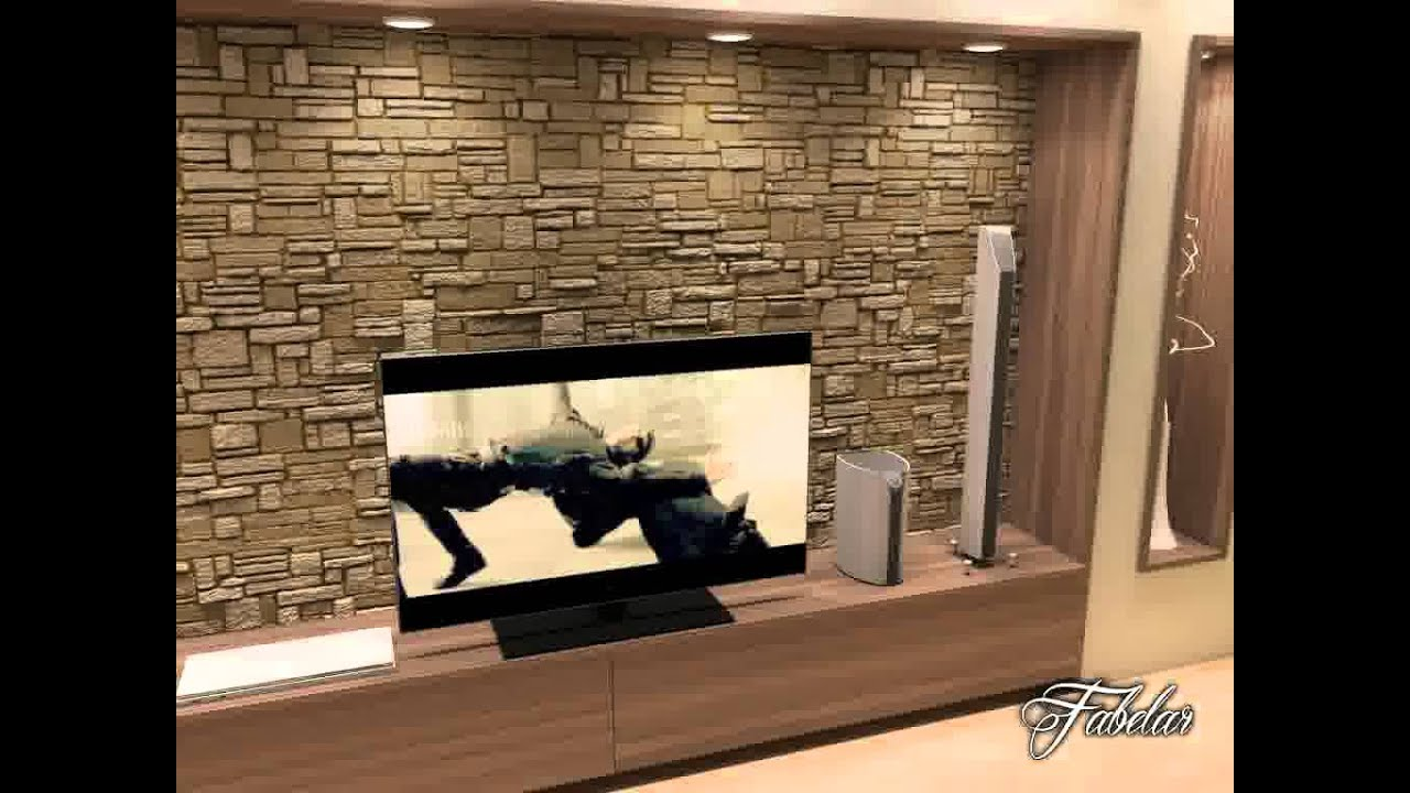3D Model of Living Room Scene With Rock Wall 17 Review ...