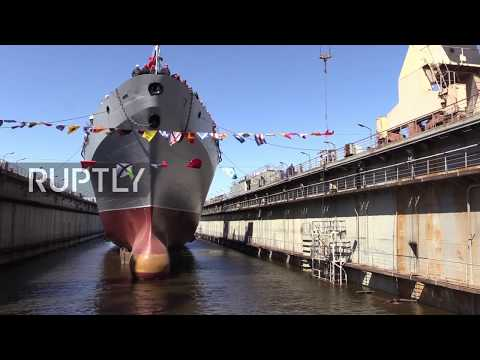Russia: State-of-the-art spy vessel launched in St. Petersburg harbour