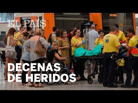 Conmoción en Barcelona: 50 heridos en un accidente de tren