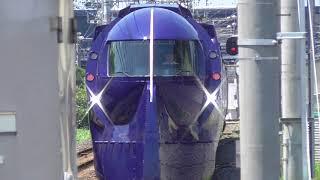 南海電鉄・尾崎駅で折り返す50000系「ラピート」(2019.7.7)