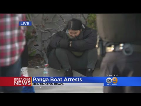 12 Arrested After Panga Boat Lands In Huntington Beach