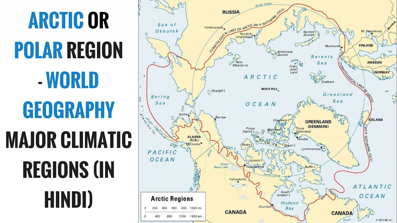 Arctic Or Polar Climate Region   World Geography Major Climatic Regions (in  Hindi)