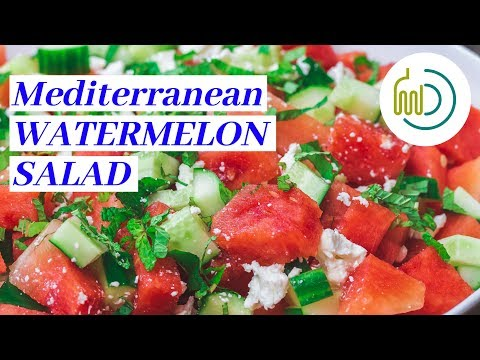 The Best Watermelon Salad in 15 Minutes | The Mediterranean Dish