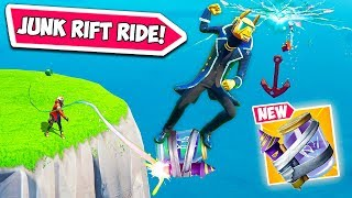 INSANE JUNK RIFT RIDE TRICK!! - Fortnite Funny Fails and WTF Moments! #660