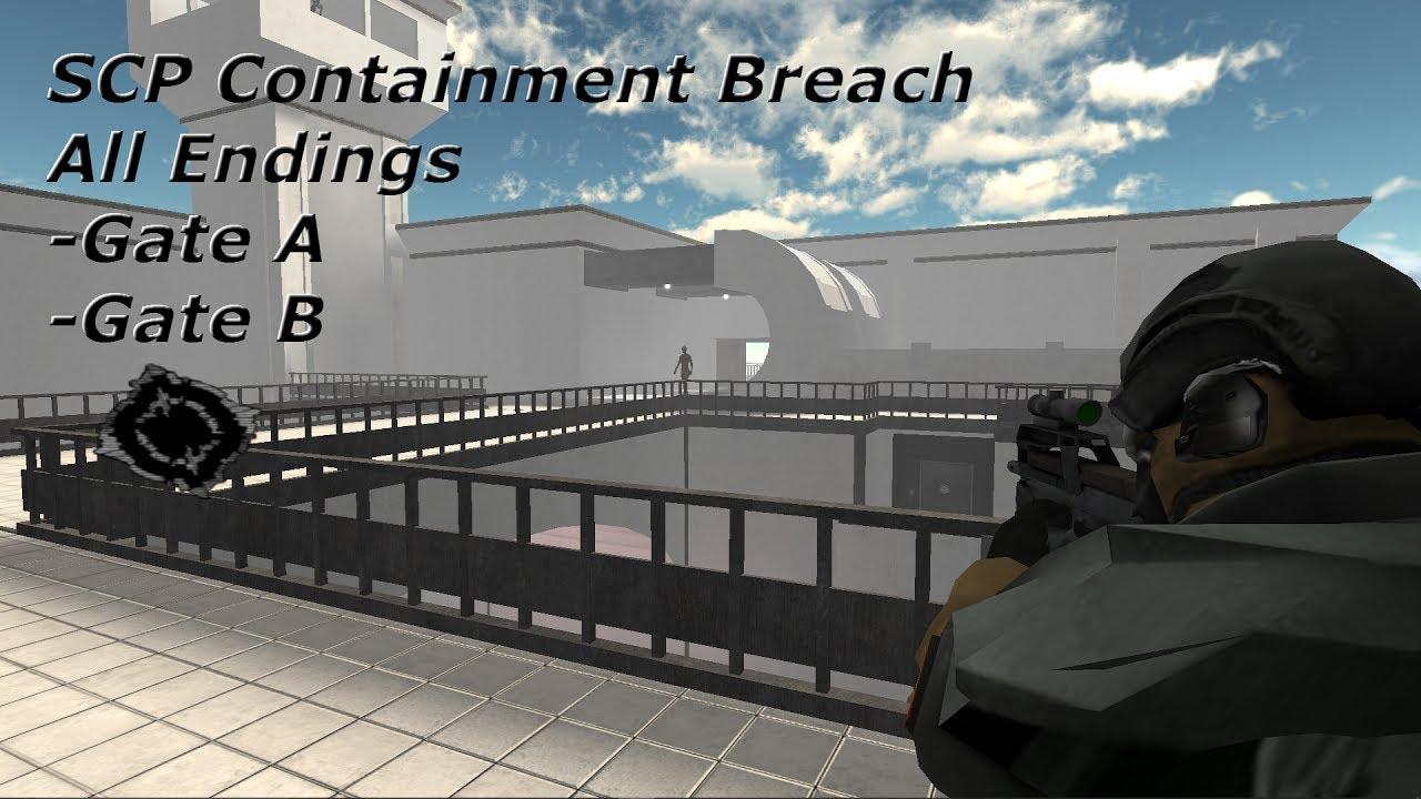 Scp Containment Breach Old Roblox Scp Containment Breach All Endings 1 3 8 Read Description Youtube