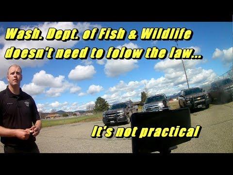 Spokane County Sheriff's Training Center - WDFW & Sheriff encounter