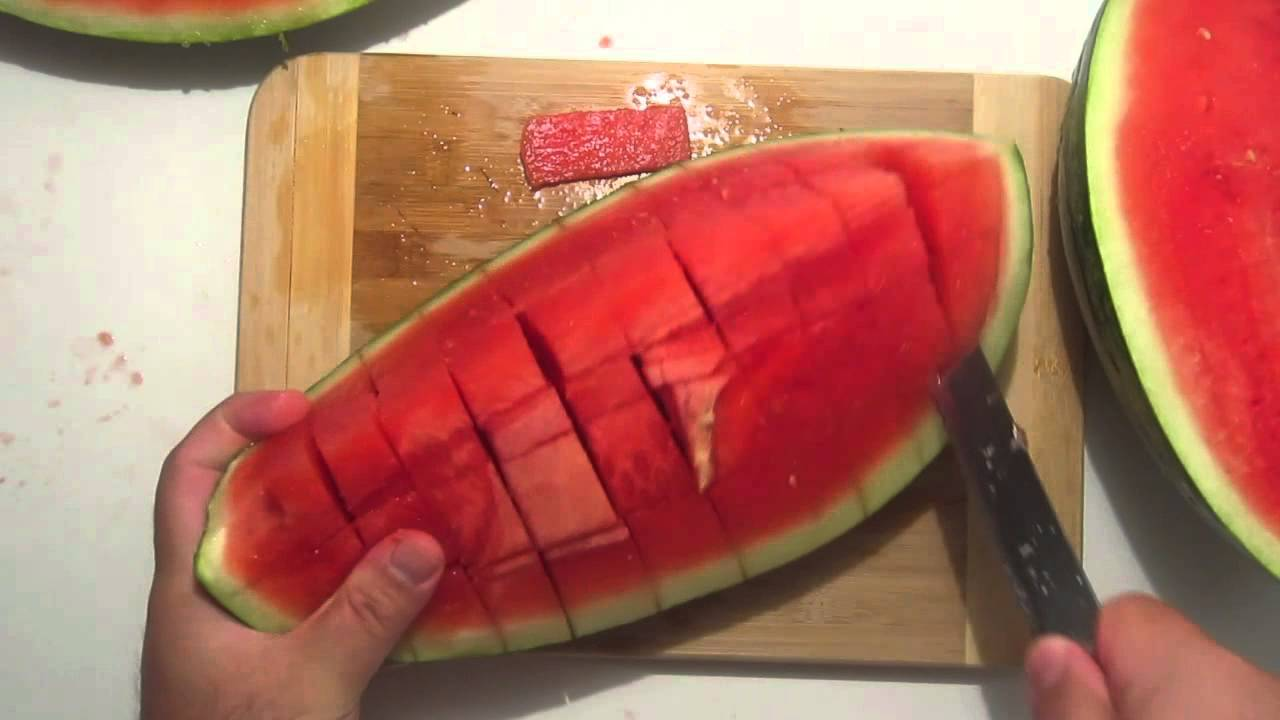 How to Carve a Watermelon Into a Heart Basket