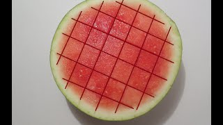 How to cut a watermelon into cubes ?