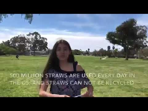 """San Diego Coastkeeper and Marston Middle School """"Reduce Your Use-Straws!"""""""