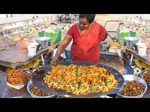 Madrasi Masala Crispy Prawn Fry On Big Paan   Street Food