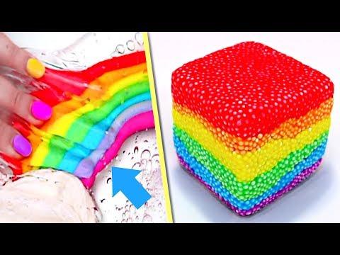SATISFYING RAINBOW SLIME Recipes! BEST DIY Rainbow Slime!