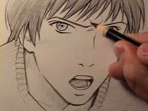 How to draw a realistic manga face anger youtube how to draw a realistic manga face anger markcrilley ccuart Image collections
