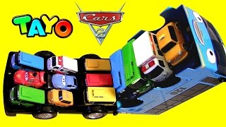 Tayo the Little Bus Storage Case with Disney Pixar Cars