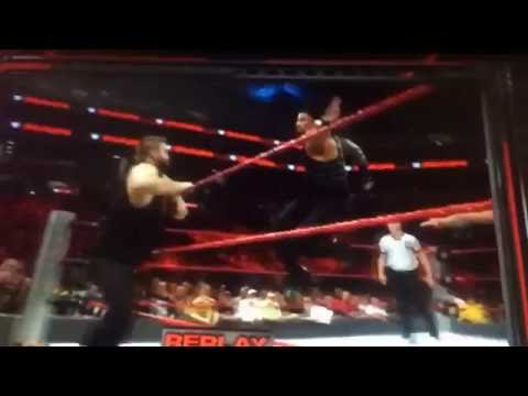 Roman Reigns' fake superman punch knocks...