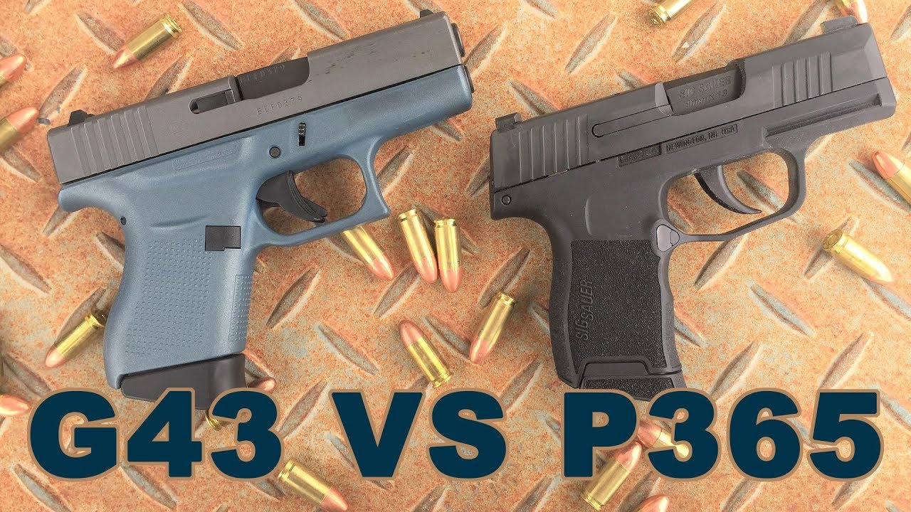 Gun Review: Glock 43 vs Sig Sauer P365 in EDC battle (VIDEO)