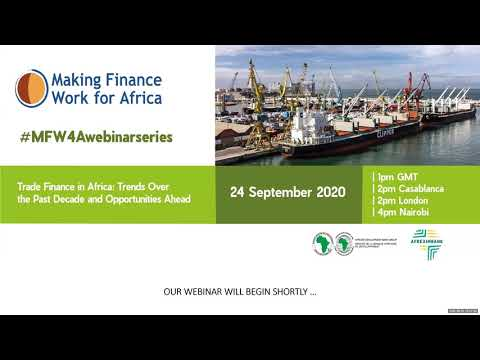 Webinar: Trade Finance in Africa: Trends Over the Past Decade and Opportunities Ahead