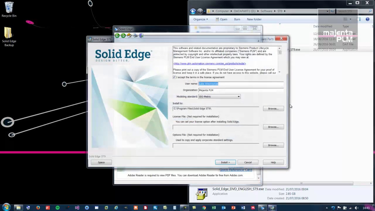 Solid Edge ST9 - Installation