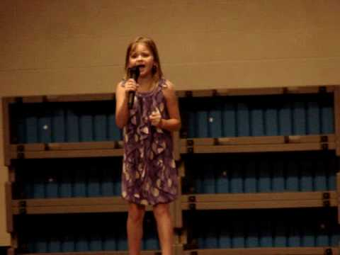Simone Haight performing at the Brill Elementary School Talent Show