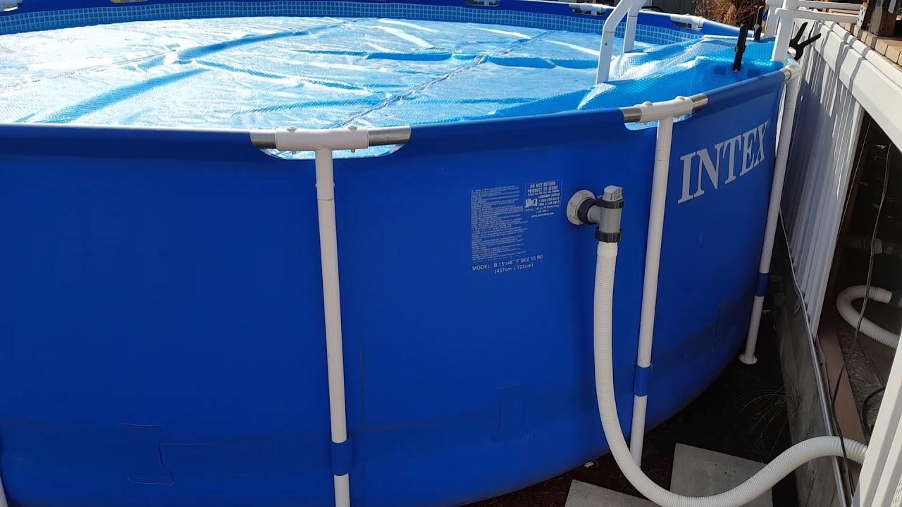 Intex pool repair - how to fix rusty pool horizontal poles