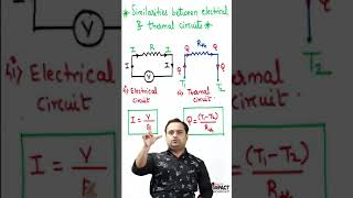Similarities between Electrical Circuit and thermal Circuit (हिंदी)  #Shorts