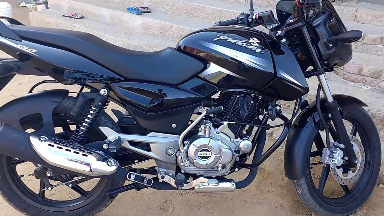 My New Bike Bajaj Pulsar 150 Dtsi Black 2016 Walk Around Youtube