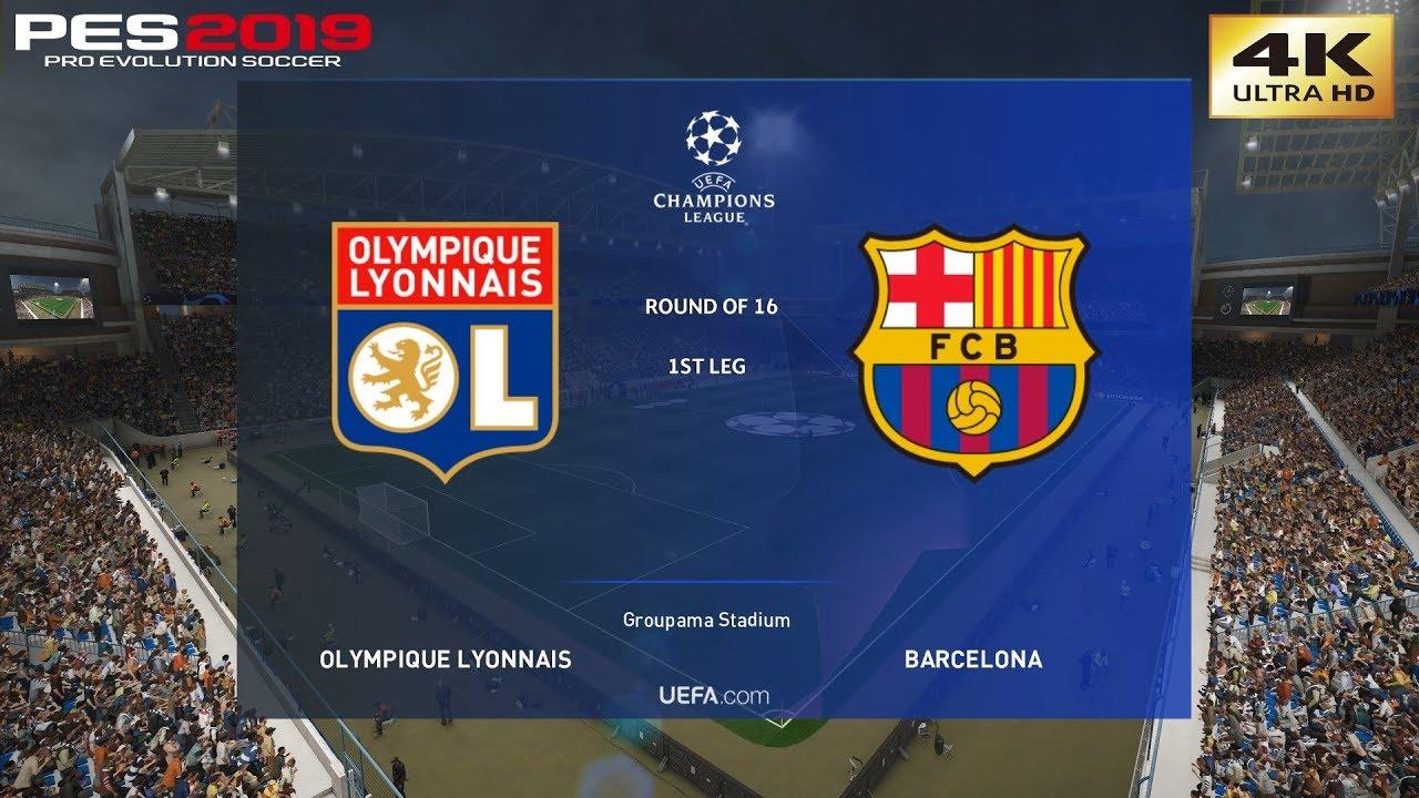 Barcelona Vs Lyon Champions League 2019 Photo: PES 2019 (PC) Lyon Vs Barcelona