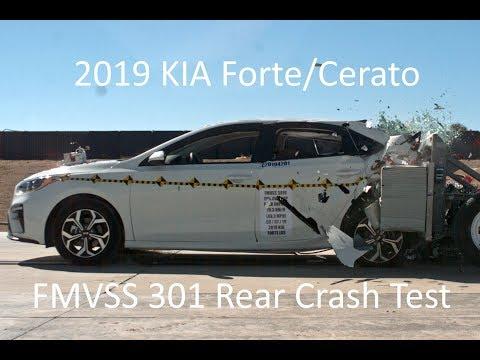 2019-2021 KIA Forte/Cerato/K3 FMVSS 301 Rear Crash Test (50 Mph)