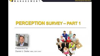 Safety Culture Perception Survey – Part 1