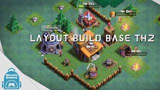 Clash of Clans - layout para base do construtor nivel 2 #compartilhe
