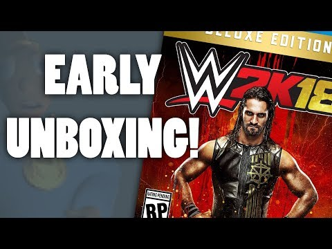 WWE 2K18 Deluxe Edition Unboxing!! (PS4)