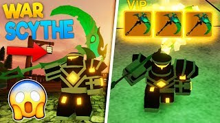 *RAREST ITEM* GETTING the WAR SCYTHE on Dungeon Quest | ROBLOX