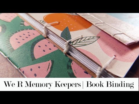We R Memory Keepers - Book Binding Guide   Part 1 (Saddle and Japanese stitches)