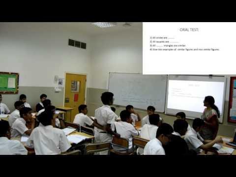Live Class Video  Grade 10   Similar Triangles   By Bindu Shajan DPS Sharjah