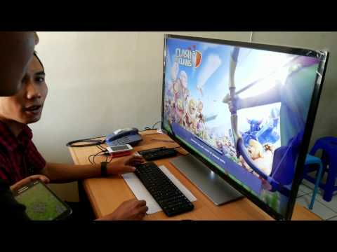 bermain game clash of clans di tv android