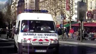 Ambulance SAMU Paris France French siren NECKER