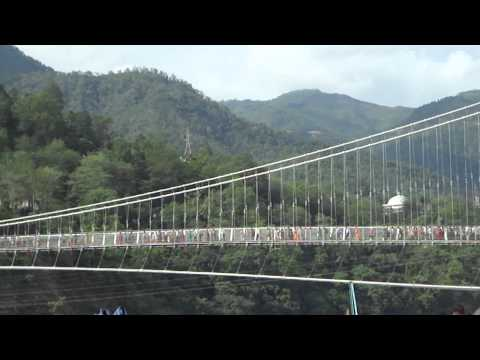 Ram Jhula & Ganga River, Rishikesh, Uttarakhand - India Travel & Tours Video