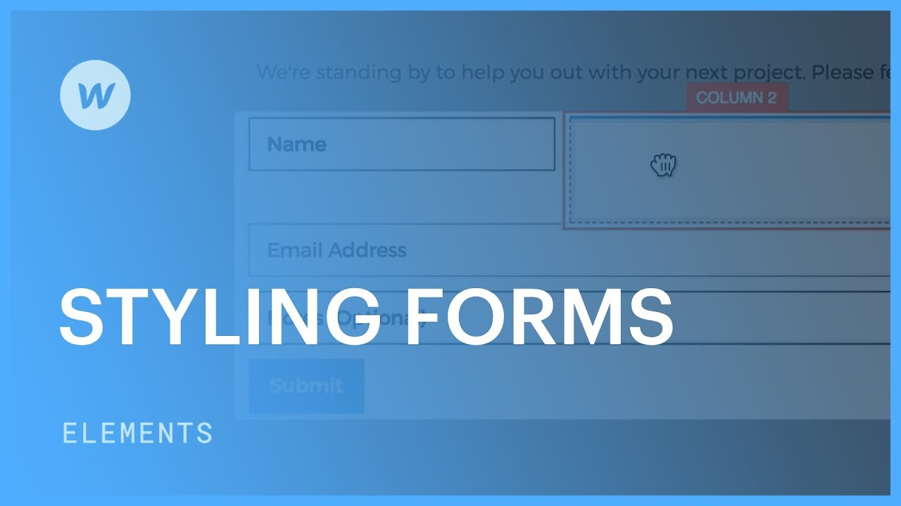 Styling a web form - Web design tutorial - YouTube