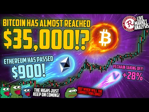 BITCOIN LIVE : ETHEREUM HIT $1000! WEEKLY CANDLE CLOSE STREAM
