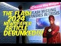 Future Flash 2024 Newspaper Article DEBUNKED! - The Flash - Lets talk!