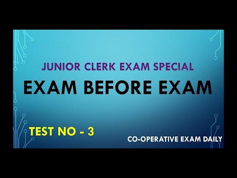 Cseb/ exam before exam /Junior clerk exam special